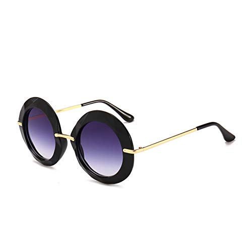 ADGJLI Gelb Rahmen Runde Vintage Sonnenbrille Übergroßen Schwarzen Kreis Brille Designer Frauen Grün Rot Sommer Stil