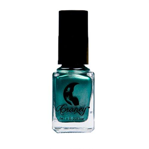 Zarupeng Spiegel Nagellack - Nude UV Nagellack - Soak Off Gel Nail - Metallic Matt Farbe Shine Nagellack (One Size, Grün)