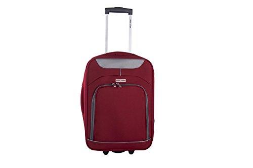 Maleta semirrígida PIERRE CARDIN rojo mini equipaje de mano ryanair VS14