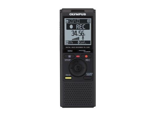 Produktabbildung von Olympus VN-733 Diktiergerät, 4 GB Speicher, Micro SD-Kartenslot, USB-Anschluss, inklusive Batterien und Tasche