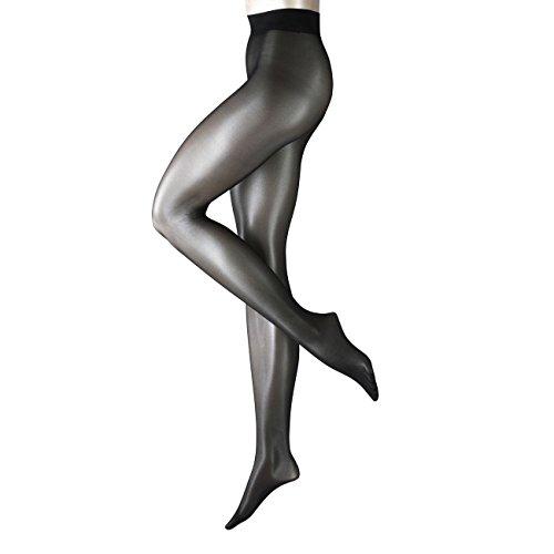 Falke Strumpfhosen Tights Seidenglatt 15 3er Pack, Größe:S;Farbe:Black (3009)
