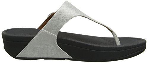 Fitflop Skinny Deluxe, Sandales femme Argent (Silver)
