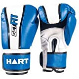 Hart GetFIT Synthetic Leather Boxing Gloves Light Weight Blue White Free Size