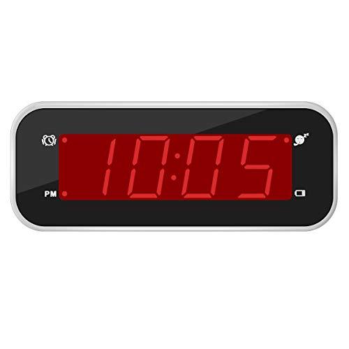 Timegyro Digital Wecker batteriebetriebene Reise-Uhr LED stille Wecker für...