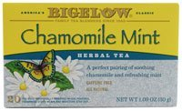 Bigelow Tea Herbal Tea Caffeine Free Chamomile Mint -- 20 Tea Bags