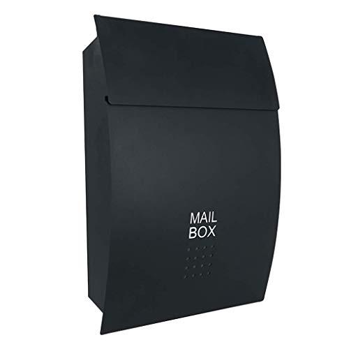 BMY Große Kapazität Post und Rostschutz Urlaub Mailbox, schwarz/weiß (Farbe: SCHWARZ)