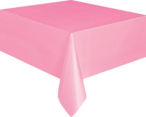 Unique Party Supplies Plastik Tischdecke Pastell Rosa