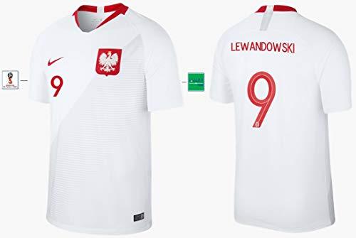 Polen Trikot Herren WM 2018 Home - Lewandowski 9 (XL)