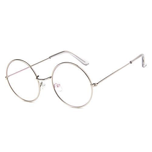 DIYOO Retro Runde Sonnenbrille Mode Sonnenbrille Vintage Look Sonnenbrille Männer Frauen Unisex Classic Eyewear Silber