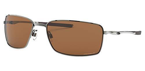 Oakley Oo4075-14 Tungsten Prizm Tungsten polarisierte Platz Draht-Platz Sonnenbrillen