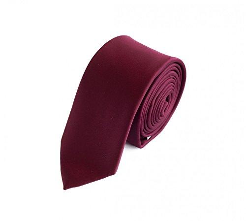 Fabio Farini - einfarbige und elegante Krawatte in verschiedenen Farben und Breiten zur Auswahl Weinrot 6cm