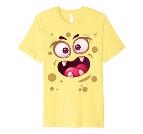 (Cute Monster Face T-Shirt Funny Kids Gifts Halloween Costume)