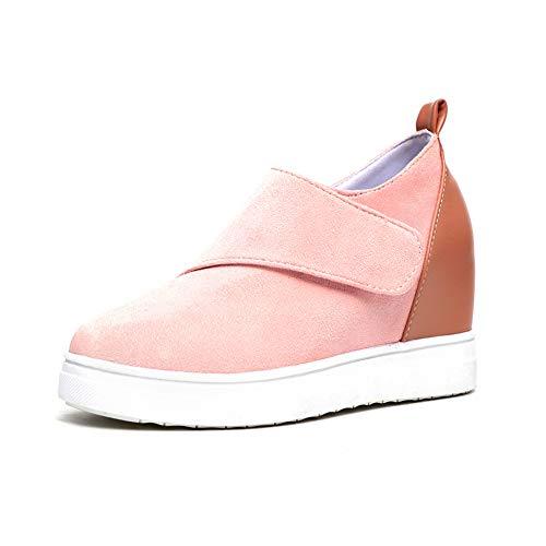 Zapatillas Deporte Mujer Sneakers Cuña Interior Zapatos de Tacon 5CM Mocasines Ante Cuero Botines Plataforma...