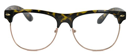 50er Jahre Retro Nerd Brille Halbrahmen Hornbrille Clubmaster Stil Rockabilly Streberbrille...