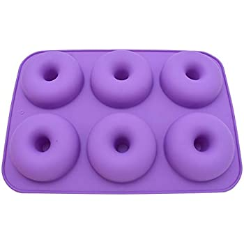 6-Cavité Donut Moule silicone donut Baking Pan antiadhésif Donut Mold