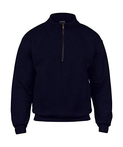 Gildan: Vintage 1/4 Zip Sweat 18800, Größe:2XL;Farbe:Navy (1/4 Zip Navy Fleece)
