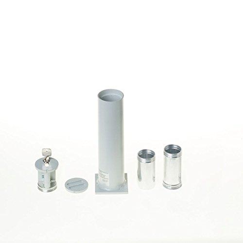 Bodentresor, Rohrtresor Carl 200, 2 Geldbomben, HxBxT 241x63x63 mm, Profilhalbzylinder, Grau