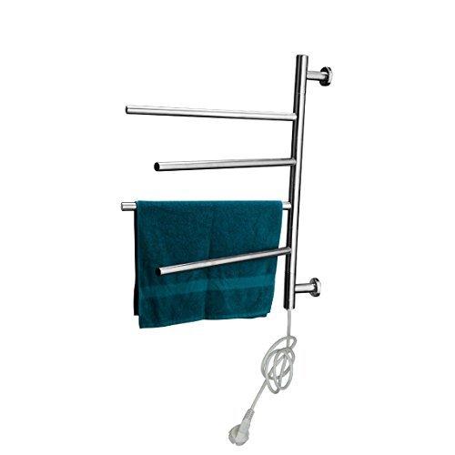 Design Elettrico Porta Asciugamani Scalda-asciugamani Salviette Barra porta asciugamani in cromo Da Secco di asciugamani, Accappatoi, Giacche, Abbigliamento nuoto, usw