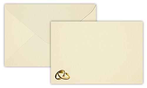 25 anillos de boda oro Sobres B6 DIN 12