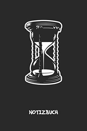 NOTIZBUCH: Notebook für Vintage-Fans 90er Kinder & Retro Liebhaber - altmodisches Geschenk für Freundin und Freund | Notizheft in A5 (6x9 Inch) | ... Geburtstagsgeschenk | Stundenglas Cover Motiv