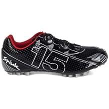 Spiuk 15 MTB Carbono - Zapatilla de ciclismo unisex, color negro/blanco, talla 39