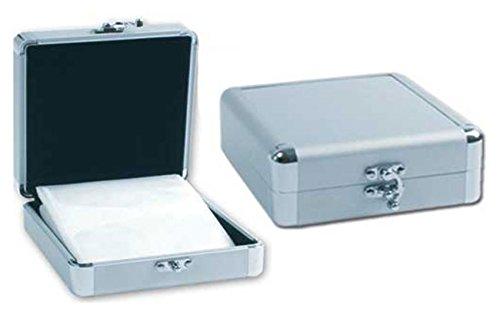 Alu CD Box (Mappe) für 32 CDs, DVDs oder Blu-Rays, CD Tasche zur Aufbewahrung und Transport - Multimedia-tasche