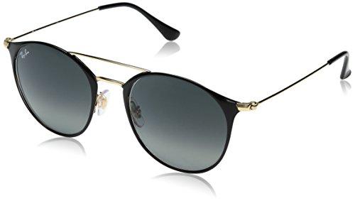RAYBAN JUNIOR Unisex-Erwachsene Sonnenbrille RB3546, Gold Top Black/Greygradient, 52