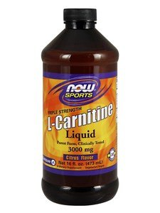NOW Foods Sports Carnitine Liquid Citrus Flavor 3000 mg 16 oz 473 mL - Fat Burner Lean Muscle Weight Loss Diet Weight Loss Fat Burner