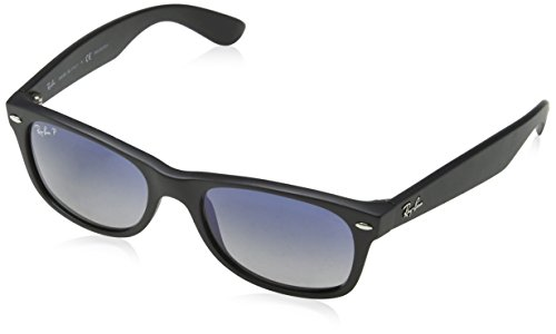 Ray-Ban RB2132 New Wayfarer Sonnenbrille 52 mm, Black Brown Color Mix, 52 mm