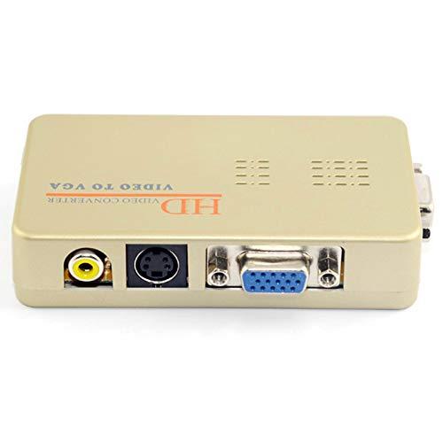 TOOGOO Av Zu Vga Video Konverter Pc Zu Tv Konverter Vga Signal In Video/S Video Signal Umgewandelt Eu Stecker (Tv-signal-konverter)