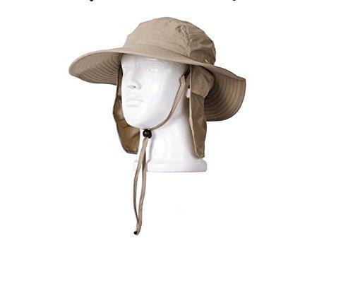 ewinever(TM) 1 PC para mujer para hombre de Verano Y Protección solar a prueba de viento de pesca Cap cuello de la cara de la aleta Sombrero (gris)