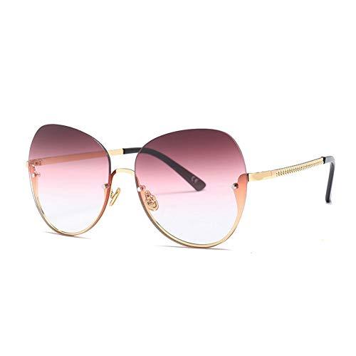 Thirteen Sonnenbrille Frauen Rundes Gesicht Bunte Sonnenbrille Frauen UV-Schutz Ist Leicht Und Komfortabel, Geeignet Für Dekoration, Reisen, Fahren Und Sonnenschutz. (Color : D)