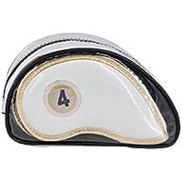 Aishanghuayi-ou Cubierta for la cabeza del Club de golf, Impermeable y resistente al desgaste negro for fundas de hierro, Cubierta for la cabeza del Club de golf Creative (rojo, 1 paquete) Mano de obr