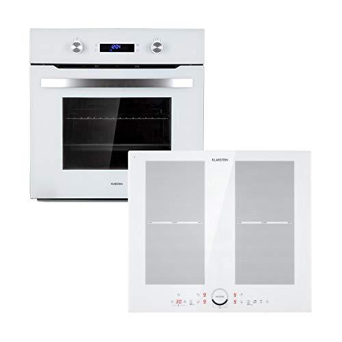 Klarstein Kalahari Delicatessa lote de horno - Horno y placas de cocina, Placa de inducción de 4 zonas...