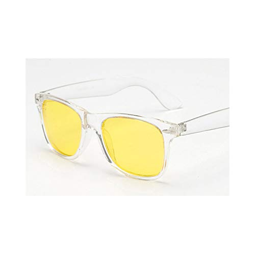 Sport-Sonnenbrillen, Vintage Sonnenbrillen, Vintage Polarized Sunglasses Männer WoMänner Yellow Lens Night Driving Safety Sunglasses Rivet Metal Design Retro Sun Glasses clear night vision