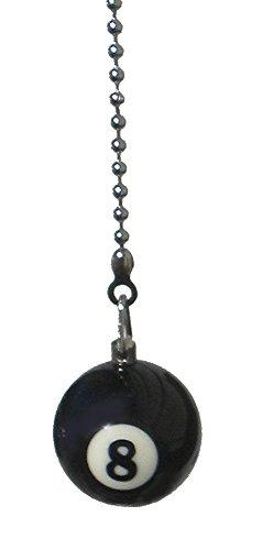 weez \'Industries Pool Tisch Billard Ball Deckenventilator Pull Licht Kette (schwarz 8Ball)