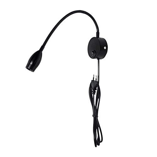 GBOTTOM Flexible Hose Wandleuchte Mit EU Stecker Moderne Wandleuchte Nachttischlampe - Kompakt-leuchtstofflampen-dimmer-schalter