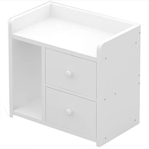 Bedside table Möbel Nachttisch Schrank Bücherschrank, mit Schubladen abgerundeten Ecken leicht zu Reinigen, geeignet für Wohnzimmer/Schlafzimmer, (43 * 26 * 40CM)