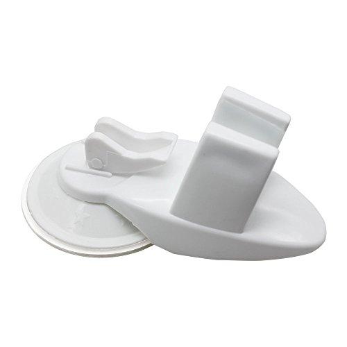 Saugnapf Badezimmer-Halterung Duschkopf Feste Mobile verstellbar Wandtattoo Brustpflege Unterstützung Weiß (Halter Halterung Duschkopf)