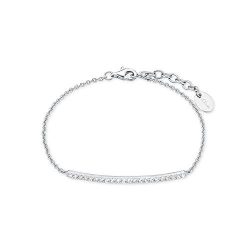 s.Oliver Damen-Armband 17+3 cm 925 Silber rhodiniert Zirkonia weiß 20 cm 2015097