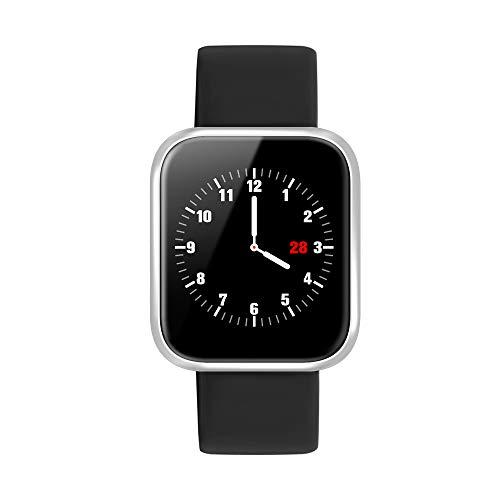Smartwatch, Reloj Inteligente Bluetooth Smart Watch Hombres Mujeres Niños IP68 Impermeable Deportes Fitness Tracker,Pulsómetro, Monitor de sueño,Podómetro,SMS,Pulsera para Android y iOS ( Negro)