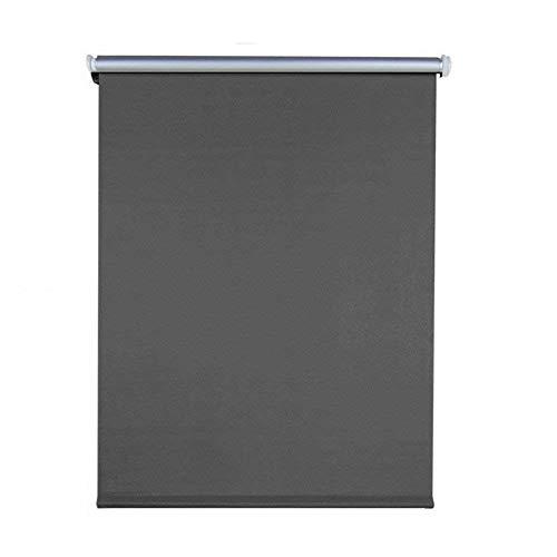 AUFUN Verdunkelungsrollo Thermorollo Seitenzugrollo Seitenzug Klemmrollo ohne Bohren Klemmfix (80 x 160 cm, Anthrazit)