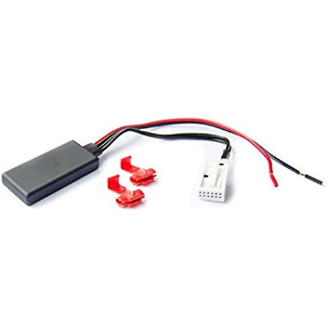 Watermark - Adaptador para Bluetooth (compatible con los modelos de BMW E60, E61, E63, E64, E83 y E85, entrada auxiliar para interfaz de audio, música y