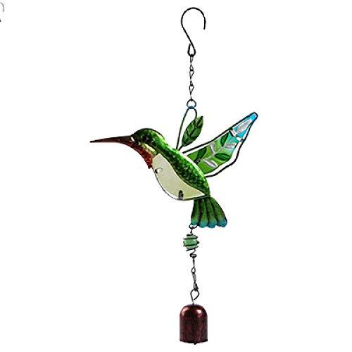 Seoimte Vogel Grün Windspiele Rohr Zubehör Modell Dekoration FigurMetall Windspiele Handwerk Geschenk Spielzeug