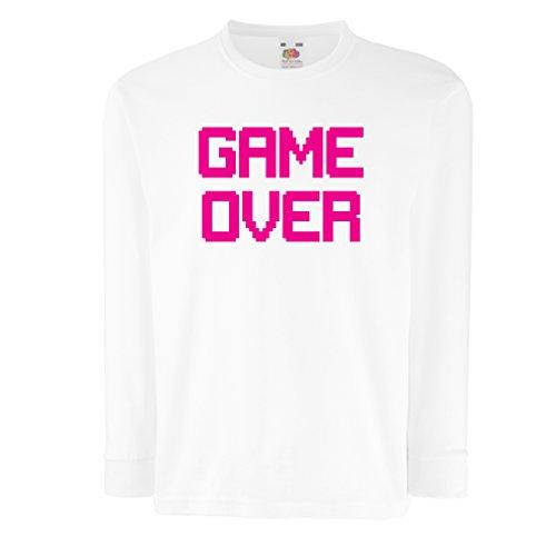 Kinder-T-Shirt mit langen Ärmeln Spiel über lustige Gamergeschenke (3-4 years Weiß (Ideen Jungs Für Kreative Kostüm)