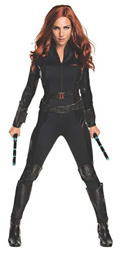 Kostüm Captain Civil America War - Rubie's Black Widow-Kostüm für Damen Captain America Civil War schwarz L