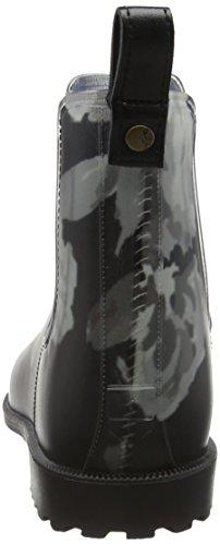 Joules Rockingham, Bottes de Pluie femme Black (Black Beau Bloom)