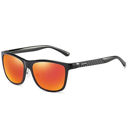 XIAONK Polarisierte sonnenbrille polarisierte sonnenbrille angeln aluminium magnesium treibspiegel sonnenbrille outdoor sports radfahren@Schwarzer Rahmen orange -