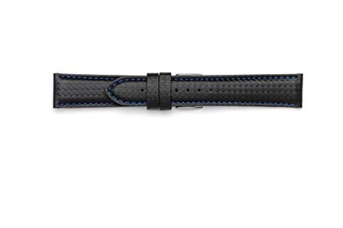 Cinturino Fibra di Carbonio waterproof 18mm 20mm 22mm 24mm. Made in Italy...