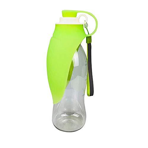 ZSLLO Tragbare Haustier-Hundewasserflasche-weiche Silikon-Blatt-Entwurfs-Reise-Hundeschüssel für die Welpen-Katze, die Haustier-Wasserspender im Freien, Haustier-Zusätze trinkt Hundewasserflasche (Im Waschbecken Kaltes Wasser Spender)